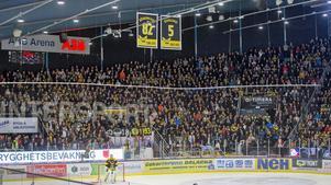Det är den fantastiska VIK-klacken som skapar stämningen och passionen i ABB Arena Nord.