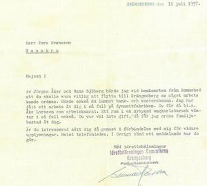 Inte ens arbete på dynamitfabriken lockade nog för att få Tore Svensson att flyta till Grängesberg.