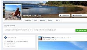 En av de falska Facebookprofiler som använts i bedrägerierna.Foto: polisen