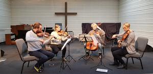 Konsert anordnad av Södertälje kammarmusikförening. Treitlerkvartetten spelar i Pingstkyrkan.