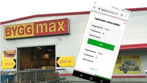 Uppgifterna i Byggmax app stämde inte med verkligheten. Företaget svarar nedan.