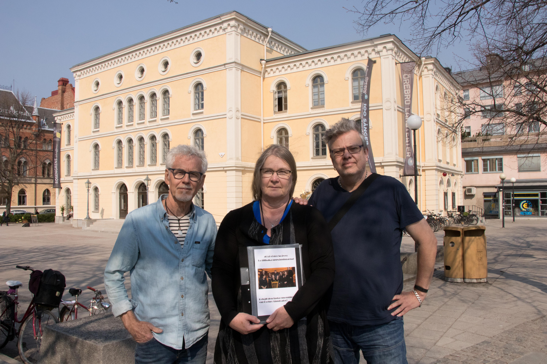 Lasse Persson, Ann-Sofie Lennqvist Lindén och Rod Cansby.