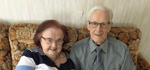 Marianne och Jean Edin har varit gifta i imponerande 70 år.