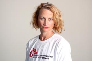 Foto: Läkare utan gränser. Anna Sjöblom, sjuksköterska och medicinsk humanitär rådgivare på Läkare utan gränser.