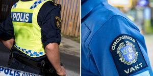 Både polis och ordningsvakt blev utsatta våld i helgen.