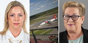 Jönköpings flygplats är, med sitt centrala läge i Sydsverige, en perfekt kandidat att bli en utpräglad elflygplats, skriver Angelica Lundberg och Agnetha Lundberg. Foto: Daniel Svensson.