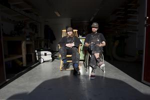 Kristoffer och Johan driver sitt företag från verkstaden som ligger i Järpen.