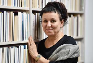 Olga Tokarczuk. Polsk nobelpristagare i litteratur.  Foto: AP.