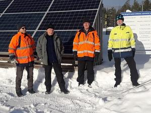 Arbetslag 1 från vänster Lennart Blomqvist, J-E Westlund, Kjell Lindberg, Lasse Stenberg.Saknas på bild: Thomas Persson, Daniel Hofstedt.
