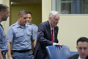 Ratko Mladic i rätten i Haag på onsdagen. Foto: Peter Dejong