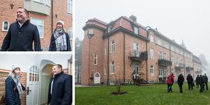 Det renoverade före detta sanatoriet i Adolfsberg fick Örebro kommuns byggnadspris 2019. Jan Petterson från KBB Fastigheter och Ida Westergren från Arkitektur och byggnadsvård.