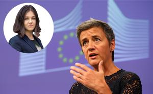 Margrethe Vestager är rätt kvinna för jobbet. Det menar krönikören Amelia Andersdotter som är skribent med särskilt intresse för integritetsfrågor och EU-politik. Andersdotter är tidigare Europaparlamentariker för Piratpartiet. Foto: AP Photo/Darko Vojinovic
