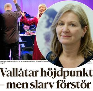 Karin Holdar, länsmusikchef, reagerar på en recension som handlar om Dalasinfoniettans nyårskonsert.