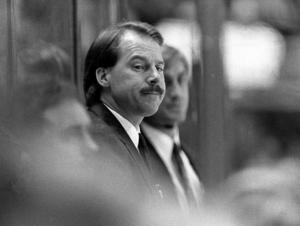 Mike Keenan under tiden som Flyers-tränare på 80-talet. Foto: Bildbyrån.