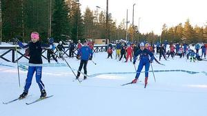 Premiärstafetten på Södra bergets friluftscentrum.Bild: Sundsvalls kommun