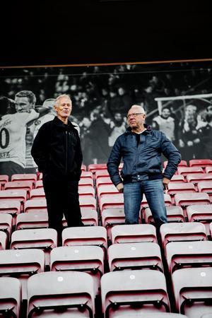 Olle Eriksson med vännen och kollegan Bjarne Carlsson.