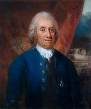 Den svenske mystikern Emmanuel Swedenborg influerade transcendentalismen. Målning av Carl Frederik von Breda från 1818.