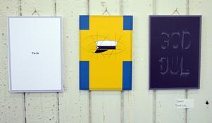 Sanna Bokedal har gjort dessa kort med delvis examenstema.