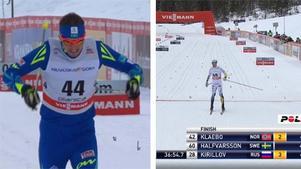 Aleksej Poltoranin (tv) vann övertygande med Calle Halfvarsson (th) på en imponerande tredjeplats. Bild: SVT.