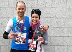 Erik Anfält blev trea i herrklassen och Josefin Gerdevåg tog hem damklassen i Utrecht halvmaraton på söndagen. Foto: Fredrik Johnsson (som också skulle ha sprungit men som blev sjuk på natten före loppet)