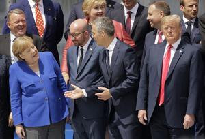 Världsledare på NATO-möte. Foto:  AP Photo/Markus Schreibe/TT