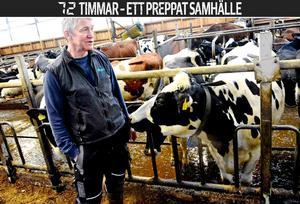 – Vi ser att om det blir en krissituation då har vi inte mat många dagar, säger Bengt Granqvist, mjölkbonde i Kvarsätt och vice ordförande i LRF i Västernorrland.