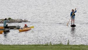 Blöta övningar erbjöds i Fränstas småbåtshamn.