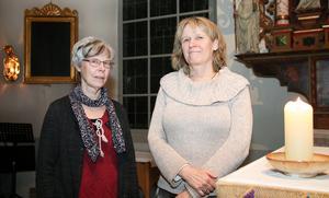 Ingeborg och Karin vill att fler ska komma och testa Heliga danser och kristen djupmeditation i Viby kyrka.