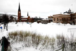 I området kring Hedbergska skolan är behovet stort efter en ny idrottshall.