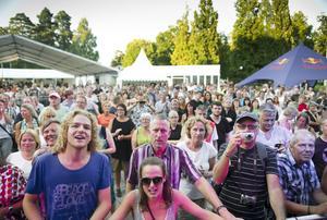 2 augusti 2013. Deluxe musikfestival lockade mängder med folk till Brunnsparken. Foto: Petter Koubek
