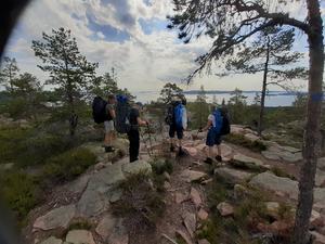 Vacker utsikt mot bl.a. Ulvön från Näskefäbodar.