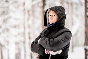Foto: Carl-Johan Utsi/TTDavid Väyrynen talar om