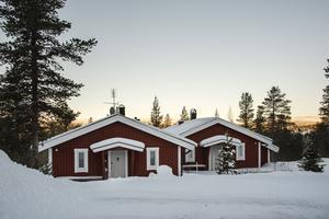 Denna villa i Tandådalen i Sälen kom på fjärde plats på Dalarnas Klicktoppen för årets första vecka. Foto: Felicia Ahlbin