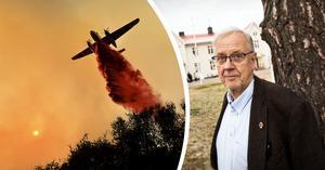 Bränderna i Kalifornien och Brasilien är bara början; om 10-20 år kan det vara för sent, säger professor Staffan Laestadius. Foto: AP/TT/Katarina Östholm