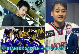 Till vänster: Tae An Kwon under sin tid i Borlänge. Till höger: