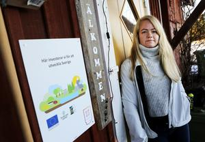 Jennie Lantz, projektledare för det nya hunddagiset i Ås.