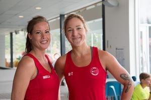 Ingela Rensbo och Marie-Therese Öberg arrangerade Triathlon.