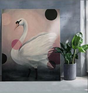 Lisa Ling målar gärna djur i klassisk stil.