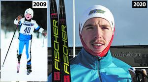 William Poromaa då och nu. Bild: Håkan Humla (2009) och Jonny Dahlgren(2020).