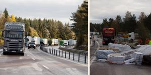 Trafiken på E4 leddes om i nästan 12 timmar efter lastbilsolyckan i Bye, söder om Härnösand. Trafiken leddes om via väg 331, men skyltningen var för dålig tycker bilisten Håkan Eriksson.