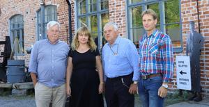 Mats Törnquist, Erika Grann, Bengt Ericsson och Adam Persson presenterade nyheten om tilläggsanslaget på onsdagen.
