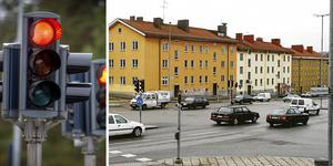 För många kör mot rött vid Birkakorset, tycker polisen.