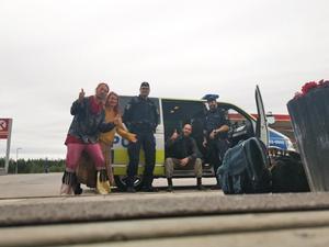 Under onsdagen lyckades man lifta med polisen i Norrköping. Foto: Privat