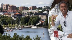 Till vänster: Södertälje gästhamn. Till höger: Insändarskribenten och Södertäljebon Eddie Demir. Foto: Christine Olsson / TT