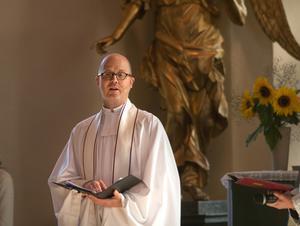 I samband med högmässan den 15 september välkomnades Herman Hallonsten i Kristina kyrka.
