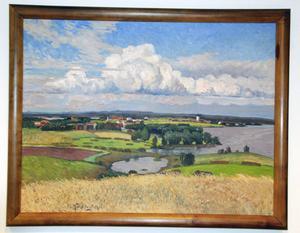 I en av tingssalarna hänger fyra tavlor målade av Anton Genberg. De kommer från den nedlagda tingsrätten i Strömsund och föreställer olika byar från kommunen. Det är tavlor som Göran Ingebrand uppskattar mycket.