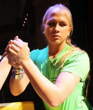 Sarah Bäckman, 17, från Tullinge är redan  både  Europamästare och världsmästare för juniorer. Hon kan mycket väl bli Heidi  Anderssons arvtagerska i sporten.