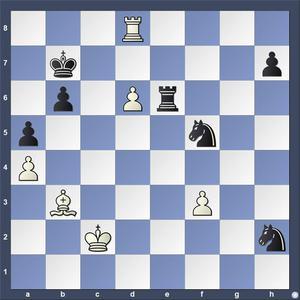 Lösning: 1.Ld5+ Ka7 2.Ta8.