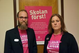 Olle de Vahl och Pia Hörnkvist, Lärarförbundet i Örnsköldsvik.