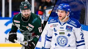 Tingsryds Mickael Frycklund och Leksands Alex Friesen. Två spelare att hålla koll på i kvällens match.  Foto: Bildbyrån